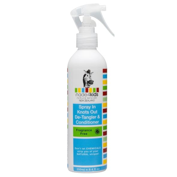 Made4Kids Spray In Knots Out Detangler & Conditioner - Fragrance Free