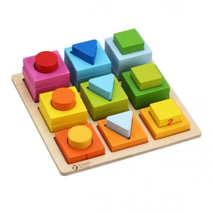 Classic World Geometric Blocks - 28 pieces