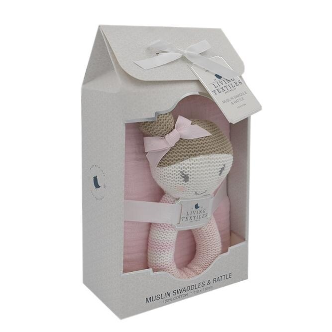 Living Textiles Sophia the Ballerina Rattle & Muslin Gift Set