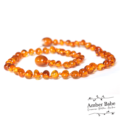 Amber Babe Baltic Amber Baby Necklace - Honey- 32cm