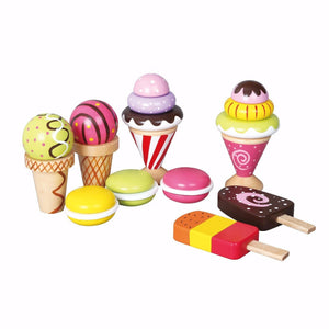 Discoveroo Wooden Ice Cream and Desserts Play Set