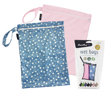Load image into Gallery viewer, Mum2mum Wetbags Twin Pack - Hearts & Plain Pink