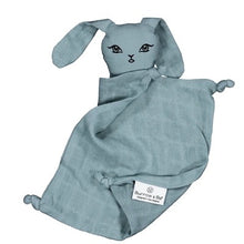 Load image into Gallery viewer, Burrow & Be Muslin Bunny Comforter - Storm