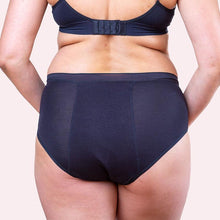 Load image into Gallery viewer, Love Luna Period Bamboo  Undies - Hi Waist Brief - Black - Choose Your Size