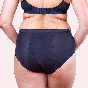 Love Luna Period Bamboo  Undies - Hi Waist Brief - Black - Choose Your Size