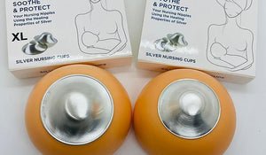 Silverette Nursing Cups -  Protect and heal breastfeeding nipples