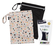 Load image into Gallery viewer, Mum2mum Wetbags Twin Pack - Fox & Black