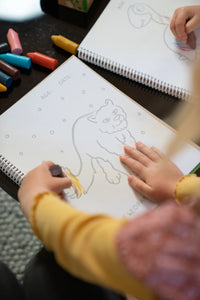Honeysticks Toddler's First Colouring Book - An Endangered Animals Adventure