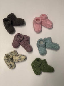 100% Pure Merino Newborn Booties