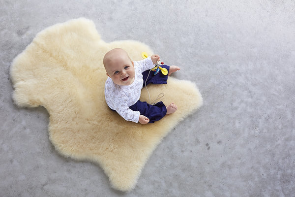 Classic Sheepskin Infant Care Rug - Natural White or Honey