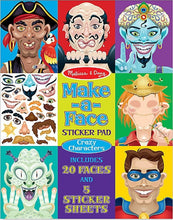 Load image into Gallery viewer, Melissa & Doug Make-a-Face Crazy Characters Sticker Pad
