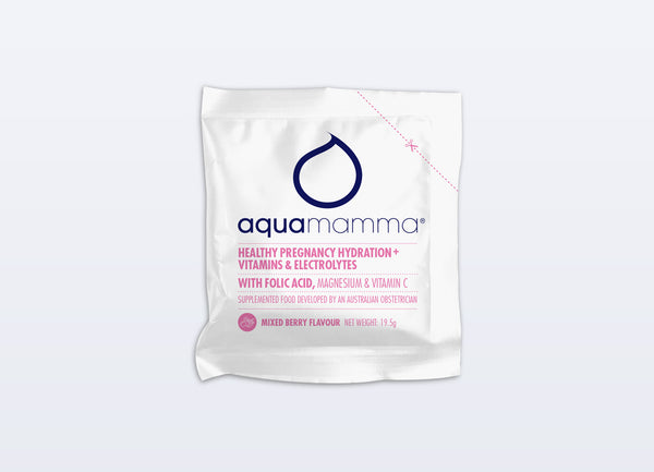 Aquamamma Healthy Pregnancy Hydration Drink - Box of 10 sachets - Choose your flavour