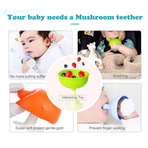 Mombella Mushroom Soothing Teether - Choose Your Colour
