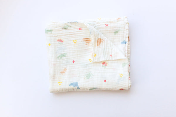 From NZ With Love - Kiwiana Muslin Swaddle