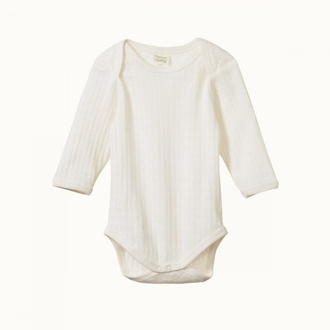 Nature Baby Pointelle Bodysuit - Natural