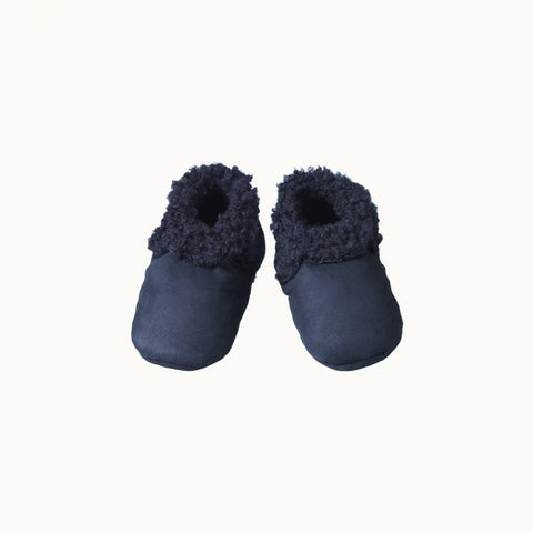 Nature Baby Lambskin Booties - Navy