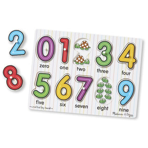 Melissa & Doug See Inside Numbers Peg Puzzle (10pc)