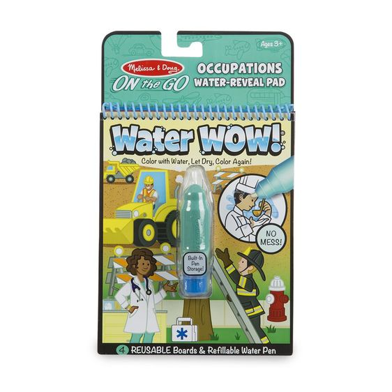 Water Wow No Mess Paint Book - On The GO Travel Activity - OCCUPATIONS
