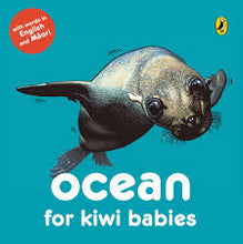 Load image into Gallery viewer, Ocean for Kiwi Babies Board Book - Words in English & Maori