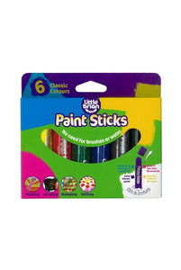 Little Brian Paint Sticks Classic Colours - 6 Pack