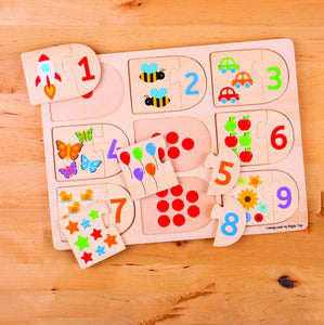 Big Jigs Picture and Number Puzzle