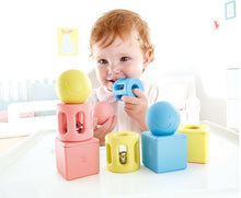 Load image into Gallery viewer, Hape Geometric Rattles - 9 piece