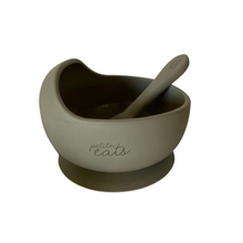 Load image into Gallery viewer, Petite Eats Suction Bowl and Spoon Set - Choose Your Colour