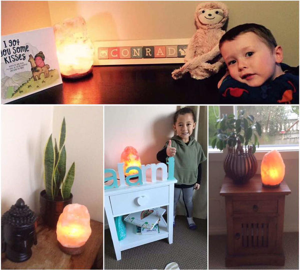 Himalayan Salt Lamp with Dimmer Switch - Perfect Night Light For Nursery
