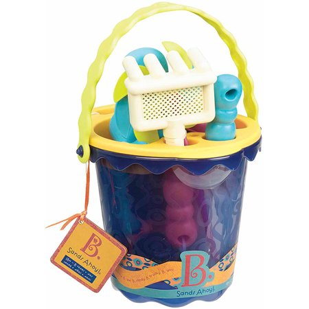 B. Sands Ahoy Beach Bucket Set - Choose Red or Blue