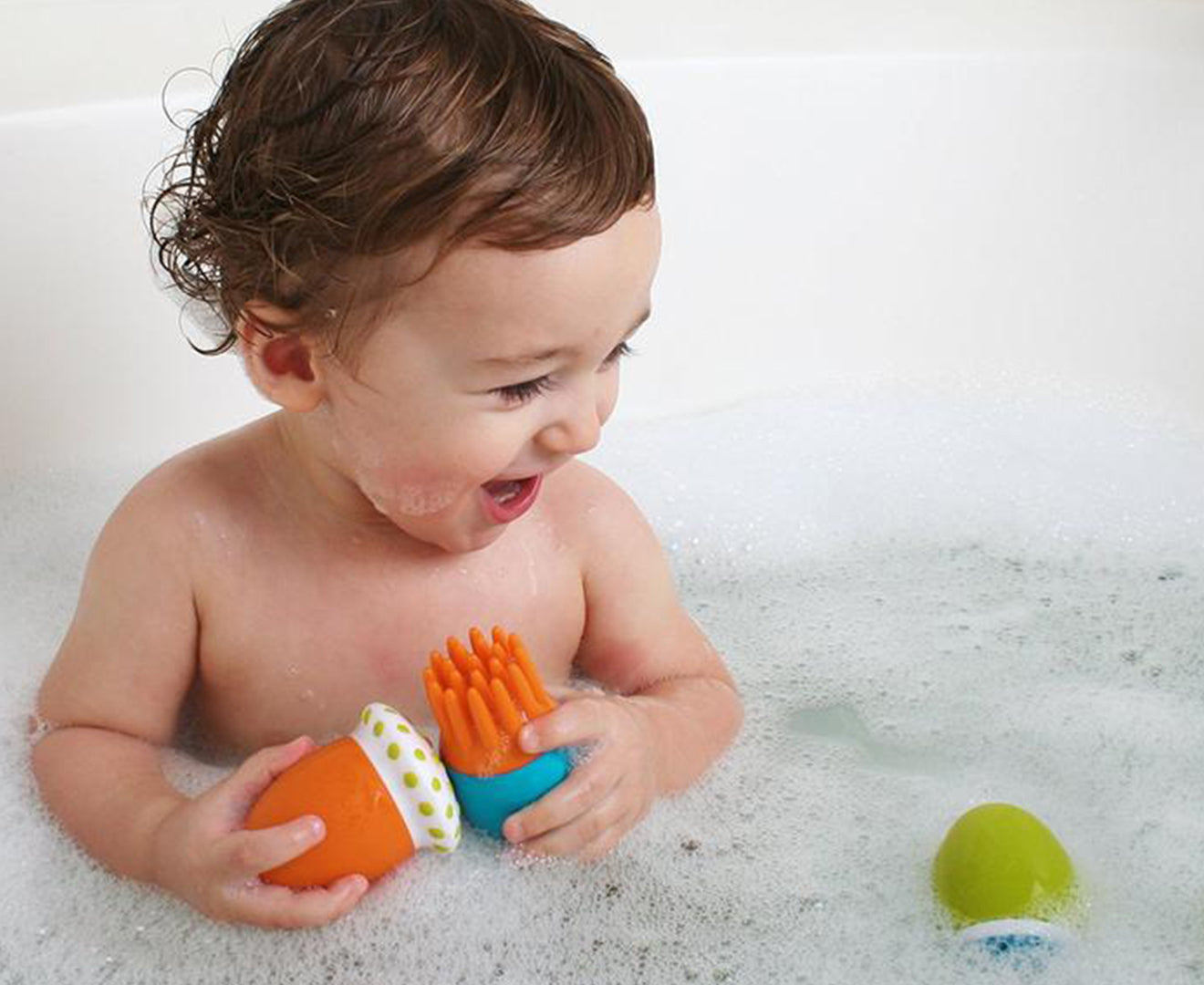 Boon SCRUBBLE Bath Toy & Scrub Set - Pack of 3