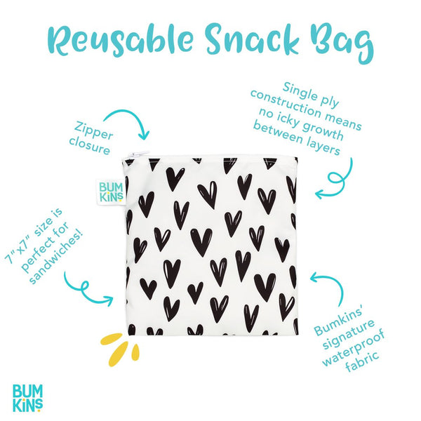 Bumkins Reusable Snack Bag - Large - Blue Tropic