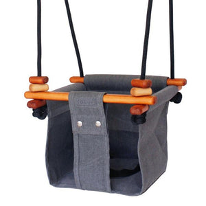 SOLVEJ Baby Toddler Swing - Smokey Grey