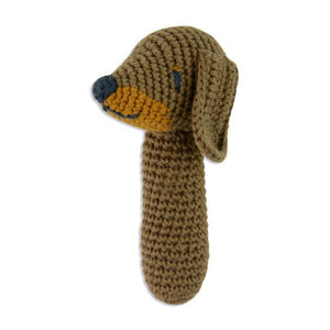 Weegoamigo Crochet Snags Sausage Dog Rattle