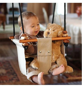 SOLVEJ Baby Toddler Swing - Soft Linen