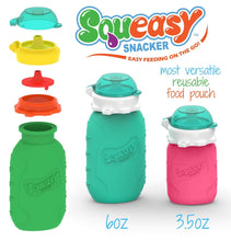 Load image into Gallery viewer, Squeasy Snacker Silicone Reusable Food Pouch - 6oz (180ml)