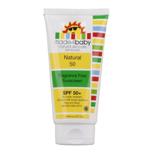 Made4Baby Natural Sunscreen SPF 50+ (Fragrance Free) 150ml