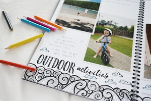 Blueberry Co The Monochrome Toddler Book - The Toddler Book you can colour in!