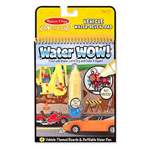 Water Wow No Mess Paint Book - On The GO Travel Activity - VEHICLE