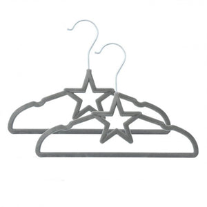 Living Textiles Velvour Baby Coat Hangers - Grey - 6 pack