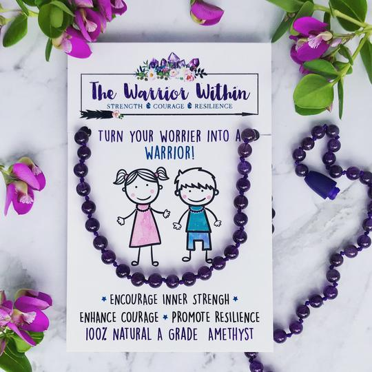 The Warrior Within Amethyst Warrior Necklace - 3 sizes