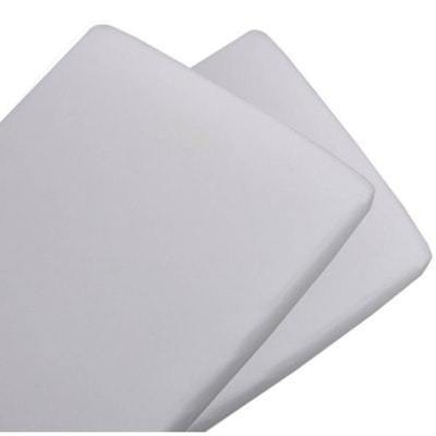 Living Textiles Jersey Cradle Fitted Sheet, 2 Pack (White) - 47 x 92cm
