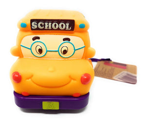 Battat Pull Back Car Mini Wheeee-ls! Yellow Bus Gus