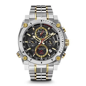 Bulova Precisionist Collection Men's Chronograph Watch with Multi-Level Carbon Fiber Dial & Luminous Hands in Two-Tone Stainless Steel - 98B228-CHRONO
