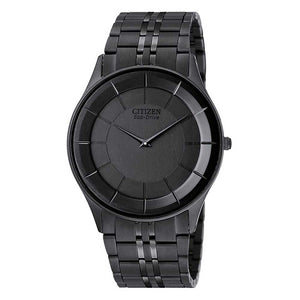 Citizen Stilletto Collection Men's Matte Black Watch with Black-Tone Stainless Steel - AR3015-53E