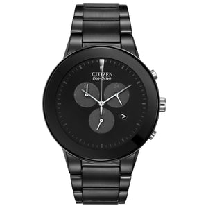 Citizen Axiom Men's Trendsetter Chronograph Watch with Black Dial in Black-Tone Stainless Steel - AT2245-57E