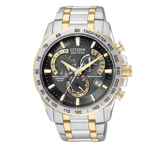 Citizen PCAT Men's Radio Controlled Perpetual Calendar Watch in Two-Tone Stainless Steel - AT4004-52E