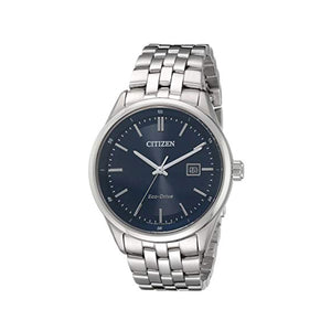 Citizen Men's Corso Eco-Drive Watch with Navy Blue Dial Set in Stainless Steel -BM7251-53L