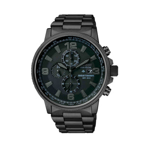 Citizen Men's NightHawk Blackout Chronograph Watch with Stainless Steel Link Band - CA0295-58E