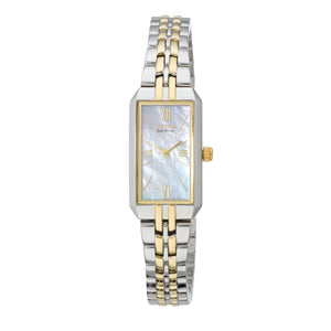 Citizen Corso Ladies' Eco-Drive Mother-of-Pearl Watch with Rectangle Silhouette in Two-Tone Stainless Steel - EG2694-59D