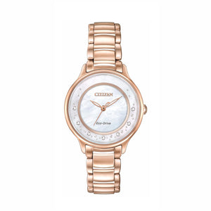 Citizen Ladies' Circle of Time Eco-Drive Watch in Pink Gold Toned Stainless Steel - EM0382-86D
